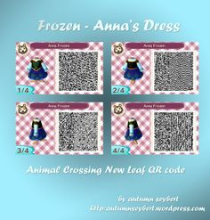 Frozen- Anna's Winter Dress- Animal Crossing New Leaf QR Code
