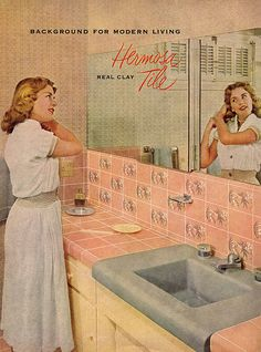 #ThrowbackThursday 1952 ad for Hermosa #Tile