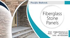 Fibreglass stone panels provided by Pacific Bedrock.