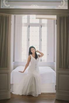 Bridal Session with dresses of Penhalta at Villa Sao Paulo, Estoril - Lisbon, Portugal www. Bridal Session, Bridal Shoot, Ocean View Wedding, Flies Away, Lisbon Portugal, Beautiful Gowns, Coastal, Destination Wedding, Villa