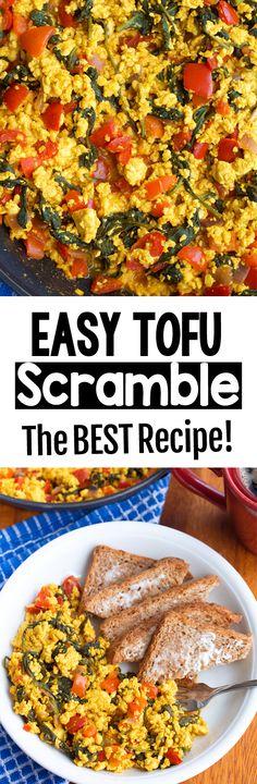 The Best Easy Vegan Breakfast Scrambled Tofu Recipe Easy Baking Recipes, Super Healthy Recipes, Tofu Recipes, Cauliflower Recipes, Curry Recipes, Healthy Breakfast Recipes, Vegetarian Recipes, Healthy Eating, Kidney Recipes