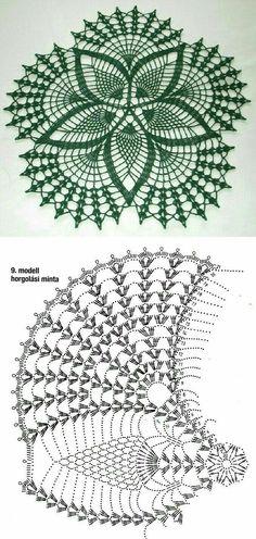 Free Crochet Doily Patterns, Crochet Mat, Crochet Mandala, Crochet Diagram, Filet Crochet, Crochet Crafts, Crochet Doilies, Crochet Stitches, Knitting Patterns