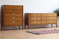 Mid Century Modern Basic-Witz Dresser Set