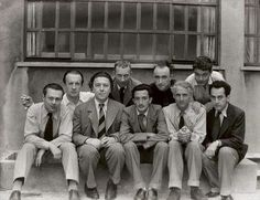 Man Ray, Hans Arp, Yves Tanguy, Andre Breton, Tristan Tzara, Salvador Dali, Paul Eluard, Max Ernst, Rene Crevel.