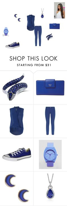 """""""Setember/ Sapphire"""" by katmccreery ❤ liked on Polyvore featuring Coleman, Effy Jewelry, FOSSIL, FRACOMINA, Escada Sport, Converse, Nixon, claire's and Blue Nile"""