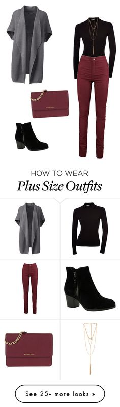 """""""Winter"""" by samantha-kaaua on Polyvore featuring Lands' End, Skechers, Ettika, MICHAEL Michael Kors and plus size clothing"""