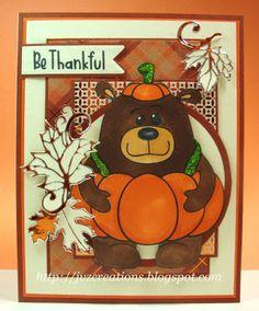 New Release: Stanley Pumpkin Fall Halloween, Digital Image, I Card, My Design, Crafts For Kids, Thanksgiving, Thankful, Pumpkin, Bear
