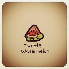 Turtle Watermelon #turtleadayjuly - @turtlewayne- #webstagram: