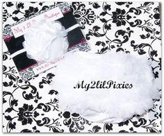 Newborn photos   White ruffle bum baby bloomer and Chiffon Satin