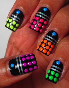 Like neon dominoes
