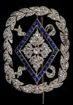 An Edwardian 18ct gold, platinum, diamond and sapphire brooch, early 20th…