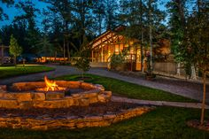 Curl up with some s'mores at the Mill Creek Village fire pit outside of Rendezvous Lodge at Adventures on the Gorge in West Virginia