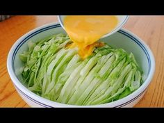 The cabbage is no longer fried and eaten. The lazy new method is more delicious than the meat. Good Healthy Recipes, Raw Food Recipes, Lunch Recipes, Asian Recipes, Vegetarian Recipes, Cooking Recipes, Veggie Snacks, Lunch Snacks, Veg Dishes