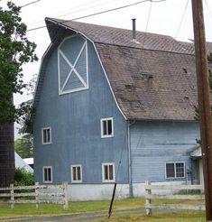 big beautiful blue barn