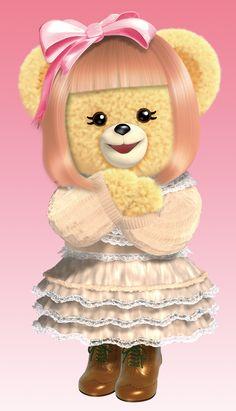 ファーファのガールフレンド、モルレ。  今日は青文字系ファッションをまとってお出かけするんだっ♥    I'm Morlle, FaFa's girl friends.  I'm going out wearing my favorite cloths.    http://www.nsfafa.jp/