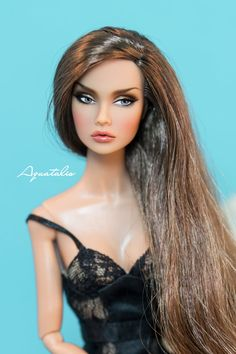 Ooak Repainted Poppy Parker 12'' Doll  Nude by AquatalisBoutique