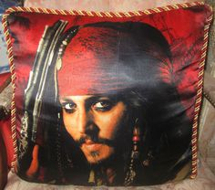 Pirates Of The Caribbean Johnny Depp Throw Pillow