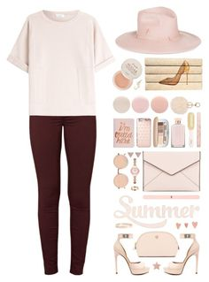"""Rose Gold"" by ealkhaldi ❤ liked on Polyvore featuring Givenchy, J Brand, Brunello Cucinelli, Rebecca Minkoff, ban.do, Michael Kors, Armitage Avenue, Linda Farrow, Gigi Burris Millinery and Paul & Joe Beaute"