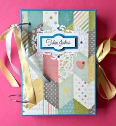 Baby First Year Album  Baby Scrapbook by KristabellaCreations