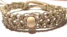 hemp bracelet  Hemp cuff  hemp jewelry  by goodolddayshempshop, $6.00