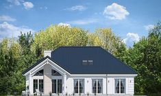 Dom nawiązuje stylistycznie do House Plans Mansion, My House Plans, Solar Panel Cost, Best Solar Panels, Bungalow House Design, Modern House Design, Cottage Plan, Facade House, Home Fashion