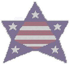 USA plastic canvas | canvas usa star pattern1
