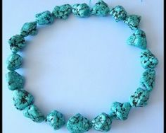 Natural Old Turquoise Gemstone Polished Rough Beads Strand For Jewelr Turquoise beads,predominantly blue, with tinge of black colour, Turquoise gemstone Turquoise Gemstone, Turquoise Necklace, Beaded Necklace, Sterling Silver Jewelry, Gemstone Jewelry, All Gems, Rare Gemstones, Opal Auctions, Hand Carved
