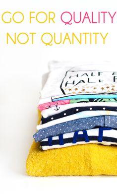 Quand une accro au shopping achète éthique - Go for quality, not quantity www.sweetandsour.fr Sweet & Sour | Healthy & Happy Living