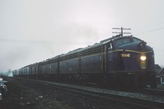 N&W E8A 3800 with Train 4, The Wabash Cannonball at Loganport, Ind. on November 25, 1966. 3800 is ex-Wabash 1000 (2nd). Photo credit: Roger Puta, via Marty Bernard.