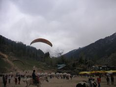 Paragliding  ..... soared close to the snow clad mountains in solang ,Manali .Jumping off a mountain was awesome !