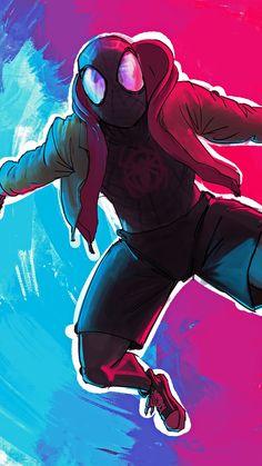 Top Spiderman Wallpapers - Homecoming, Into the Spider-Verse - Update Freak Spiderman Art, Amazing Spiderman, Black Spiderman, Man Wallpaper, Marvel Wallpaper, Every Spider Man, Miles Morales Spiderman, Miles Spiderman, Deadpool Character