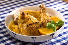 Ćwiartki kurczaka w sosie z pomarańczy