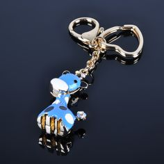 Wholesale Hot Stock Cute Animal 3D Printing Key Chain