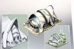 This artbook (a mini-artbook between and page formats), was sold in the collector's edition of Anno 2070 on PC. Minimalist Architecture, Organic Architecture, Futuristic Architecture, Architecture Awards, Architecture Design, Great Buildings And Structures, Modern Buildings, 3d Home Design, Future Buildings