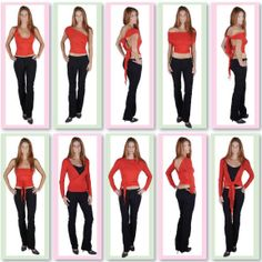 Short Mulitiwear Wrap Tops-Convertible winter tops, convertible ladies wrap tops, convertible clothing, many ways to wear tops.