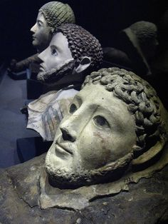 * Roman death masks recovered from underwater excavations