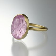 Quadrum - Oval Pink Topaz Stack Ring