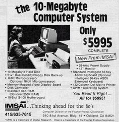 The 10 MB computer system only US$5.995 (1977)