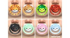 Pacifier for Toddlers. Sims 4. Accessory for toddlers. Unisex, Category - Glasses, disabled for random. 8 color variations. Pacifiers d...