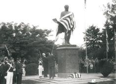 Inauguração do monumento ao mártir do Uruguai, José Artigas. Praça Artigas, Rivera, Uruguay.