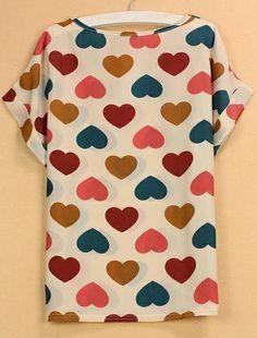 Love this heart pattern shirt!
