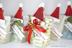 Christmas-Treats with velum from the stack Winter Wonderland from Stampin Up! - Weihnachts-Mitbringsel mit Material von Stampin Up!