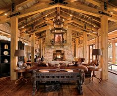 Find rustic decor, including hand-selected rustic bedding, lodge lighting, rustic furniture as well as rustic decorating tips for inspiration. Rustic Home Design, Rustic Cabin Decor, Rustic Room, Lodge Decor, Rustic Cabins, Rustic Cottage, Western Decor, Wildlife Home Decor, Cabin Lighting