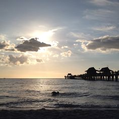 Naples beach sunset. Can't wait to be here in a few weeks. Home :)