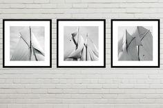 Schwarzweiß - 3er Set gerahmt versandkostenfrei 35 x 35 cm - ein Designerstück von T-ARTLounge bei DaWanda