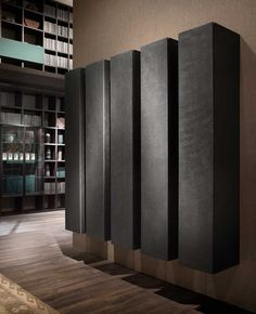 The day modular system designed by Piero Lissoni is enriched with new finishes. Resins, Precious Metals, Armoire, Marble, Powder, Living Room, Storage, Closet, Furniture