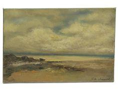 Sea Painting. Vintage French Art Seascape by LeBonheurDuJour