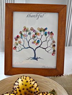 Family tree, perfect idea for Thanksgiving. Take a fingerprint from each family member! We did this one year, our family tree was HUGE. #family #thanksgiving #diythanksgiving