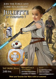 Custom Birthday Invitations And Posters By MyHeroAtHome Star Wars