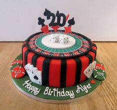 Vegas themed tiered cakelet Vegas Sugaring and Cake
